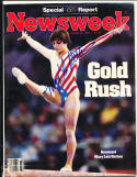 1984 8/13 Signed Newsweek Mary Lou retton Gymnast no label newsstand mag rwc2