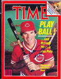 1985 8/19 Time Magazine Signed pete rose nm no label psa/dna