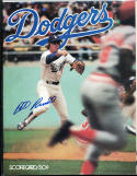 Dodgers Bill Russell Signed baseball program