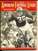 1964 AFL American Football League official Guide em; Kansas City Chiefs