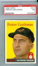 1958 Foster Castleman orioles 416 psa 7