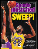 1989 6/5  Signed Sports Illustrated James worth Lakers  no label
