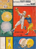 1958 Bears 49ers  Football program em