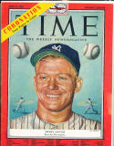 1953 6/15 Mickey Mantle New York Yankees Time Magazine Altantic Edition no label