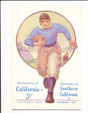November 5, 1921  USC vs California (wonder team) Football Program em