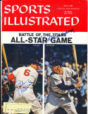 Stan Musial & Ted Williams Signed sports Illustrated em label psa/dna letter