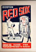 1959 Boston Red Sox Press media Guide
