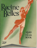 1945 Racine Belles  All American Girls Baseball League Yearbook   bxbasea