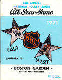 1973 Stanley Cup Boston Bruins vs New York Rangers Hockey Program unscored
