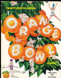 1958 Orange Bowl Duke vs Oklahoma  Football Program