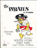 1956 Pittsburgh Pirates vs New York Yankees spring training baseball Program