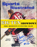 1960 11/14 Bobby Hull Blackhawks Signed newstand nrmt sports Illustrated w/flap