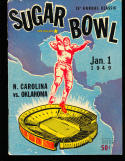 1949 Sugar Bowl football program North Carolina vs Oklahoma em