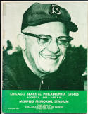 8/6 1966 Bears vs Eagles Football signed Program played in MEMPHIS