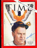 1964 Hank Bauer Orioles newsstand Time Magazine SIGNED AUTOGRAPH