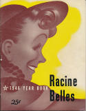 1946 Racine Belles  All American Girls Baseball League Yearbook   bxbasea