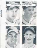 1944 Milwaukee Brewers minor league partial set 15/26