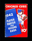 stan hack signed 1942 Chicago Cubs  player book yearbook