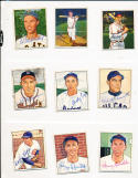 1950 Bowman signed 194 Billy Cox Brooklyn Dodgers d78 card