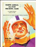 1954 1/17 Forth annual All Star  Pro Bowl Game NFL Program