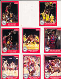 1984 Philadelphia 76ers Signed 10 card set Julius Erving