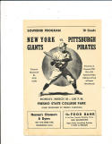 1948 3/29 spring training New York Giants vs Pittsburgh Pirates baseball Program