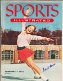 1955 2/7 Carol Heiss olympics no label  Signed sports Illustrated