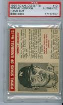 1950 Royal Desserts #12 Tommy Henrich psa Authentic