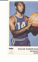 1972 icee bear card Oscar Robertson milwaukee bucks nm/mt