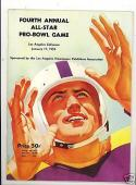 1954 Pro Bowl Football Program & stats sheet nm