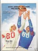 1956 Pro Bowl Football Program em