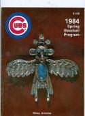 1984 Chicago Cubs Spring Training Program Mesa AZ