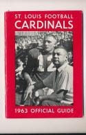 1963 St. Louis Cardinals  NFL  press media guide