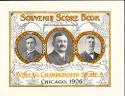 1906 White Sox vs Cubs World Series program - opie reprint