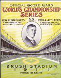 1911 Athletics vs Giants World Series program - opie reprint