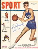 1949 January Signed Sport Magazine Ed Macauley st. Louis