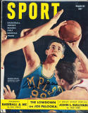 1950 March Signed Sport Magazine George Mikan Lakers psa/dna