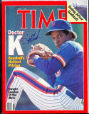 1986 4/7  Signed Time Magazine dwight Gooden Mets no label