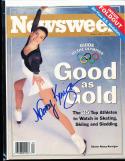 1994 Newsweek Nancy Kerrigan Ice skating olympics no label Signed magazine rwc