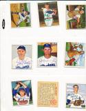 Joe Hatten Brooklyn Dodgers 166  signed 1950 Bowman d.88 card