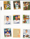 Marino Pieretti Cleveland indians 181  signed 1950 Bowman d.81 card