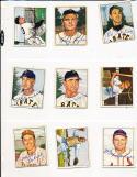 1950 Bowman signed 207 Max Lanier st. Louis Cardinals d2007 card