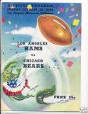 10.30.1949 Rams Bears near mint game program