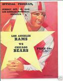 10.30.1949 Rams Bears version 2 game program