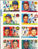 Jim Pendleton Milwaukee Braves #15  Signed 1955 Topps Card