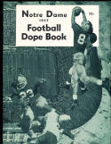 1957 Notre Dame Football Dope book Yearbook