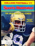 1977 9/5 Sports Illustrated Ross Browner Note Dame  label  SIGNED AUTOGRAPH