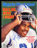8/18 1986 Sports Illustrated Herschel Walker signed  psa/dna  label rem