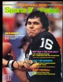 9/7 1981 Sports Illustrated Jim Plunkett Raiders signed no label