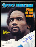 9/22 1980 Sports Illustrated Signed Billy Sims Detroit Lions